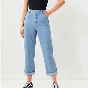 PacSun Faint Stripe Carpenter Mom Jeans